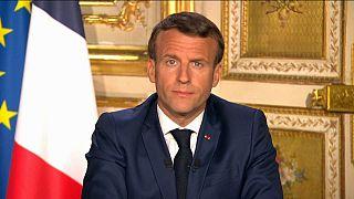 Emmanuel Macron, lors de son allocution télévisée le 13 avril 2020