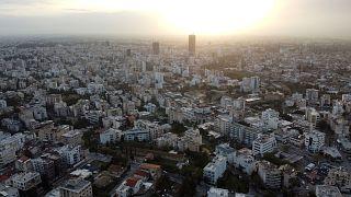 Vue aérienne de la capitale chypriote Nicoasie