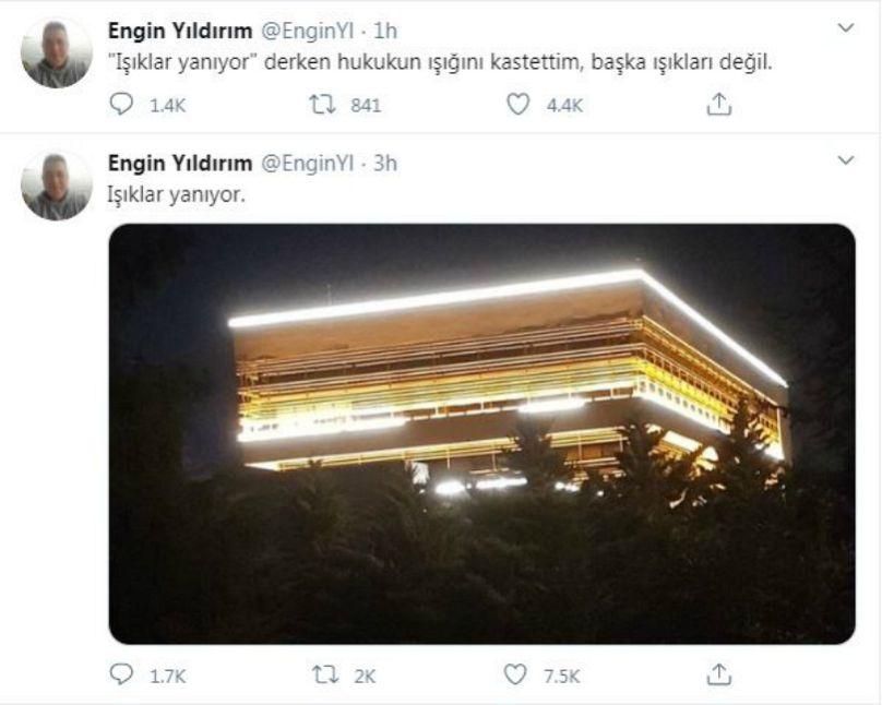 Engin Aydın Twitter hesabı