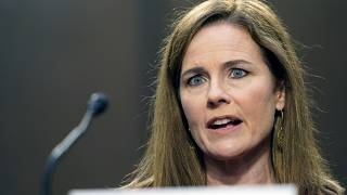 Supreme Court nominee Amy Coney Barrett speaks during a confirmation hearing before the Senate Judiciary Committee, Tuesday, Oct. 13, 2020, on Capitol Hill in Washington.