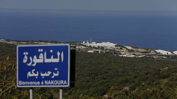 A general view shows a base of the U.N. peacekeeping force in the southern Lebanese border town of Naqoura, Lebanon, Wednesday, Oct. 14, 2020.