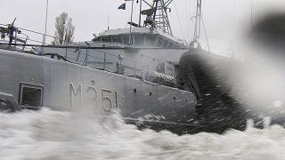 قطعة بحرية تابعة لحلف شمال الأطلسي خلال تدريبات في بولندا