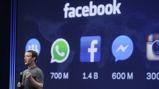مارك زاكربرغ يلقي كلمة في مؤتمر مطوري فيسبوك في سان فرانسيسكو. 2015/03/25