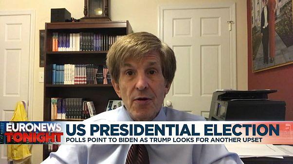 El politólogo Allan Litchman durante su entrevista con euronews