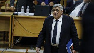 Head of Greece's extreme far-right Golden Dawn party Nikos Michaloliakos in court in November 2019.
