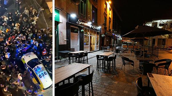 The 'rave' in Liverpool took place while bars and pubs closed on Tuesday evening.
