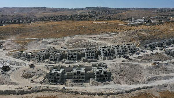 Batı Şeria'daki Filistin kenti Beytüllahim'in güneyinde yapılan yeni konut inşaatı.