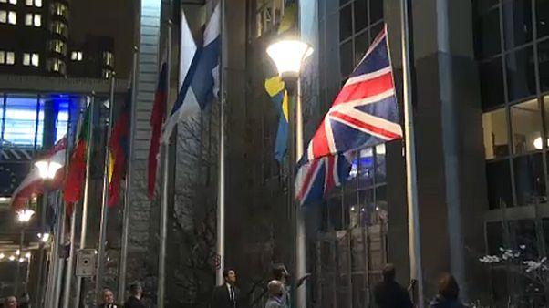 Brexit ist Realität - die britische Fahne vor dem Europäischen Parlament wird eingeholt