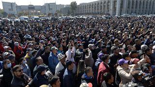 Акция протеста в Бишкеке 7 октября.