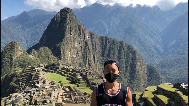 Jesse Katayama in Machu Picchu