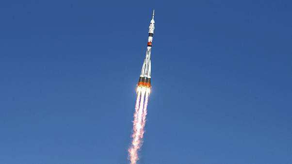 Soyıuz MS-17 Baykonur Uzay Üssü'nden fırlatıldı