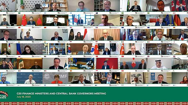 18 Temmuz G20 ülkeleri maliye bakanları ve merkez bankaları yöneticileri toplantısı ekran görüntüsü