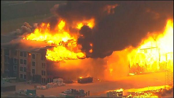 Пожар в многоэтажном доме в Техасе