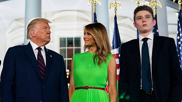 ABD Başkanı Donald Trump, eşi Melania Trump ve oğlu Barron Trump