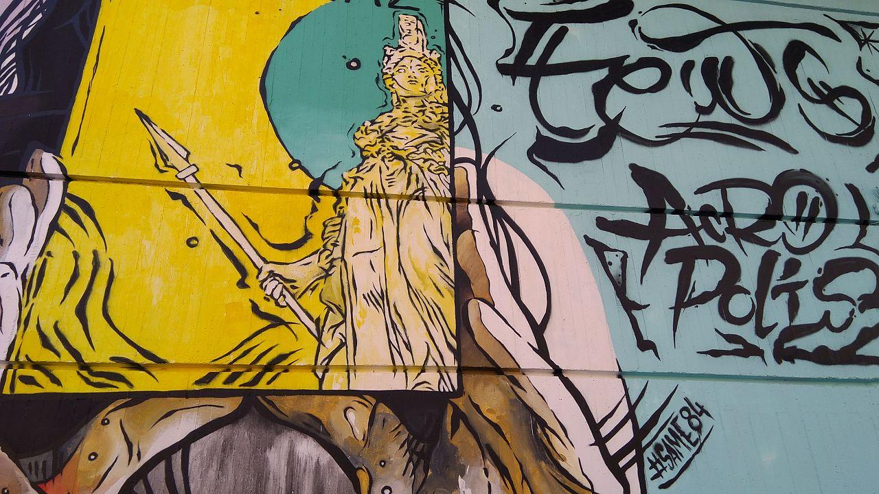 The bustling Athenian neighbourhood of Psirri is a mecca for street art