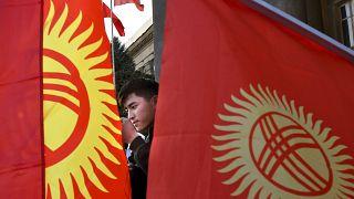 Протесты в Бишкеке.