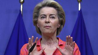 European Commission President Ursula von der Leyen on October 14, 2020.