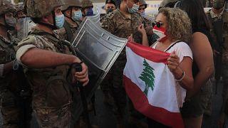 احتجاج على ارتفاع الأسعار وتدهور الأوضاع الاقتصادية والمالية شمال بيروت، الاثنين 5 أكتوبر 2020