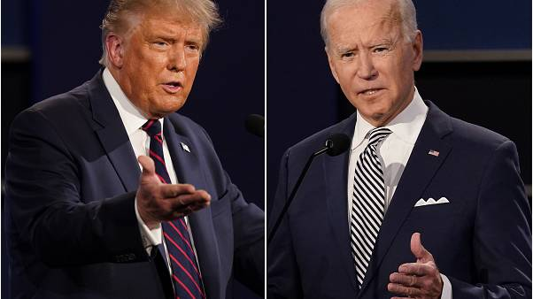 President Donald Trump, left, and former Vice President Joe Biden during the first presidential debate on Sept. 29, 2020.