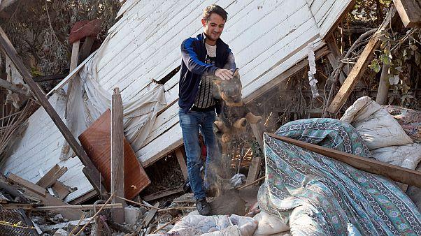 Dağlık Karabağ çatışmaları sırasında sivil yerleşim alanları büyük zarar gördü