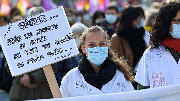 Protesto em Rennes