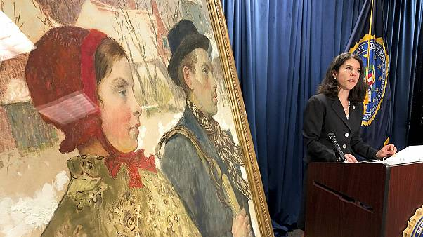 The painting 'Winter,' discovered in an upstate New York museum, was part of a cache of art seized by the Nazis from the Mosse family in Berlin in 1933.
