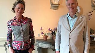 Princess Delphine and King Philippe met for the first time last Friday