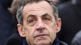 Nicolas Sarkozy lors du 101ème anniversaire de l'armistice de 1918, à Paris, le 11 novembre 2019