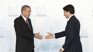 Cumhurbaşkanı Recep Tayyip Erdoğan, Kanada Başbakanı Justin Trudeau (arşiv)
