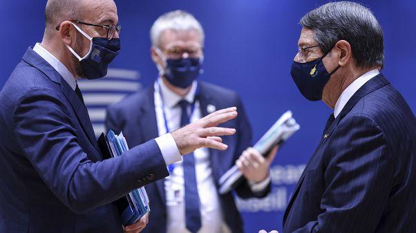 شارل ميشال خلال القمة الأوروبية