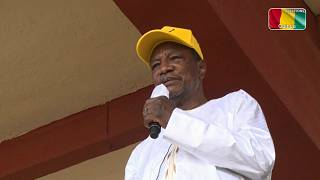 Guinea: Alpha Conde meets supporters ahead presidential