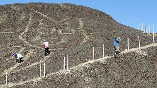 Detalle del nuevo geoglifo descubierto en Nazca