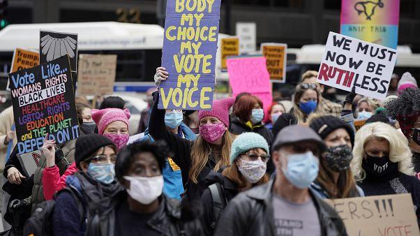 Manifestation des femmes contre Donald Trump à Chicago le 17 octobre.