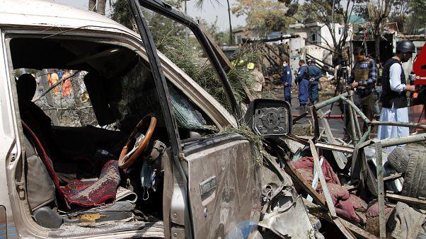 عکس تزیینی؛ صحنه انفجاری در کابل، پایتخت.