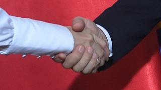 Egy nő és egy férfi kézfogása (illusztráció)