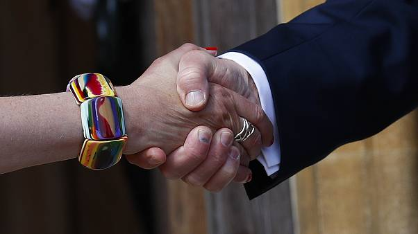 Donald Trump ve Theresa May'in elleri, 13 Temmuz 2018