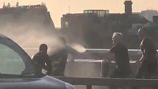 Steven Gallant narval boynuzuyla saldırganı Londra Köprüsü'nde durdururken