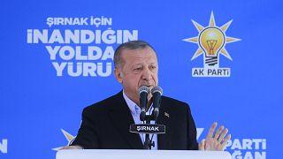 Türkiye Cumhurbaşkanı ve AK Parti Genel Başkanı Recep Tayyip Erdoğan, partisinin Şırnak 7. Olağan İl Kongresi'ne katılarak konuşma yaptı.