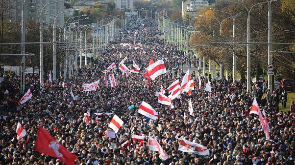 Folytatódnak a tüntetések Belaruszban
