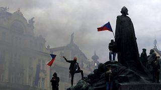 Tüntetés Prágában