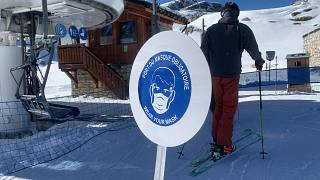Tignes ski resort in France opens with new rules requiring face masks on all ski lifts.