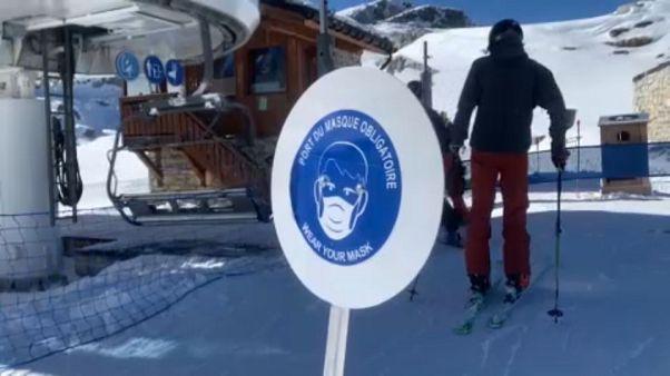 Estâncias de esqui francesas sem turistas