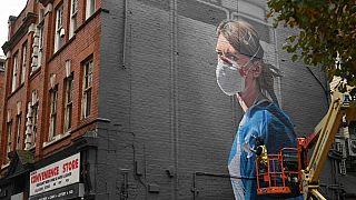 Avrupa'da bir duvar grafitisi