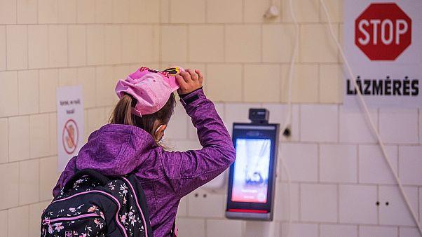 Testhőmérséklet mérés egy budapesti iskolában