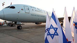 طائرة الإتحاد تحط في مطار بن غوريون لأول مرة