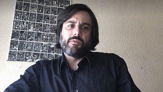 Daniel Bernabé durante su entrevista con Euronews