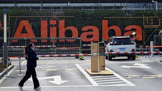 أحد مستودعات مجموعة علي بابا في الصين