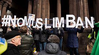 مظاهرة ضد حظر دخول المسلمين