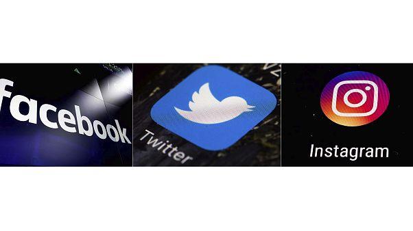 شعارات منصات التواصل الاجتماعي لكل من فيسبوك وانستغرام وتويتر,