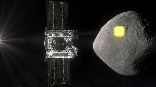 فضاپیمای اسیریس-رکس در کنار سیارک بنو